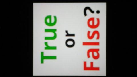 Notizie vere o false?