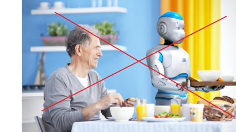 Un robot come aiuto per anziani? NO