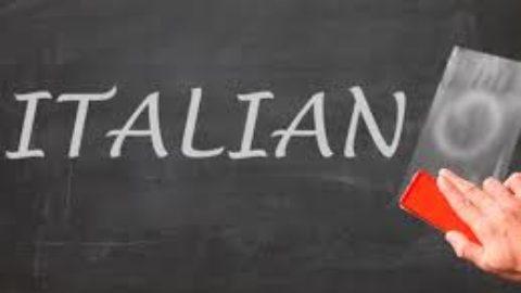La lingua italiana come una straniera.