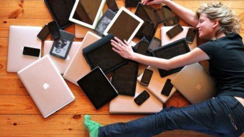 Dipendenza da smartphone.