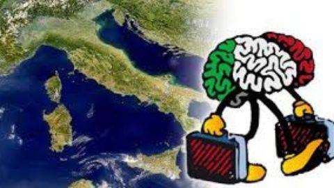 La grande fuga di cervelli in Italia.