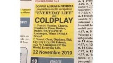 I coldplay ricorrono al giornale
